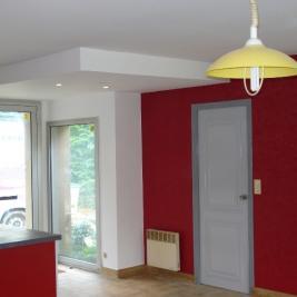 Travaux de peinture jonction salon cuisine