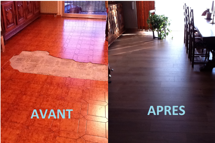 Pose de parquet vend e home r nove for Ragreage avant carrelage